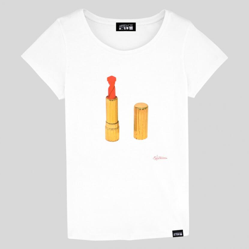 t-shirt elodie antoine lipstick impression sérigraphie