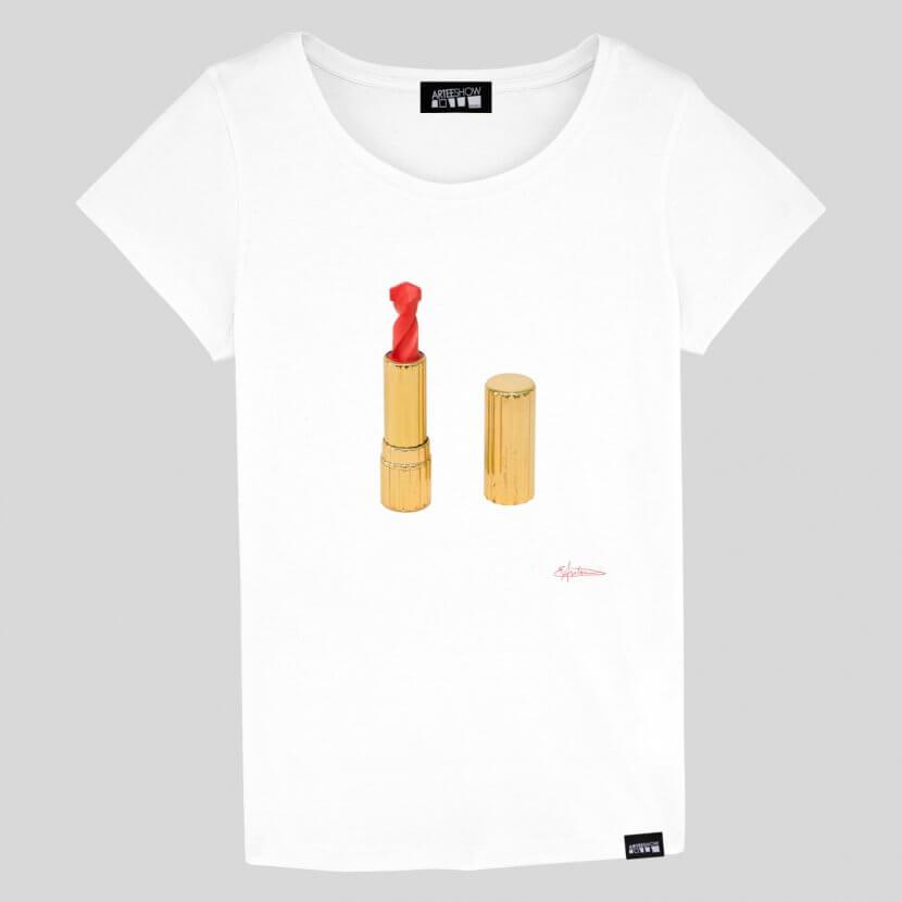 T-shirt Femme blanc coton biologique Elodie Antoine