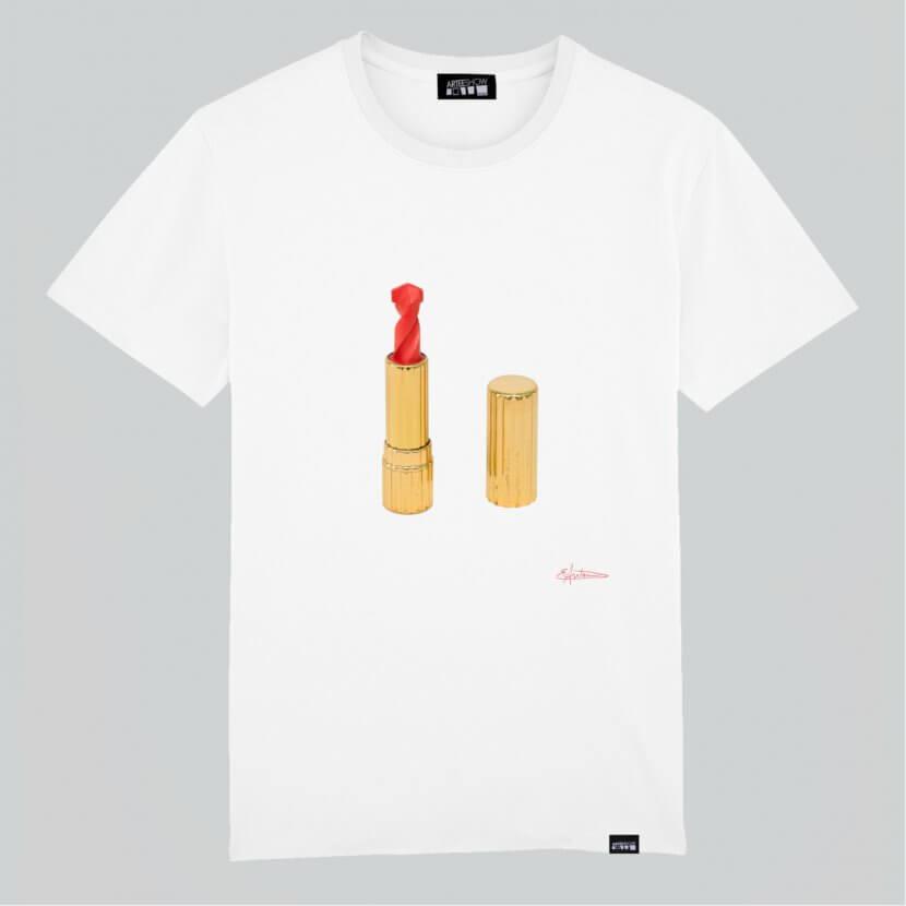 T-shirt Homme blanc en coton biologique Elodie Antoine
