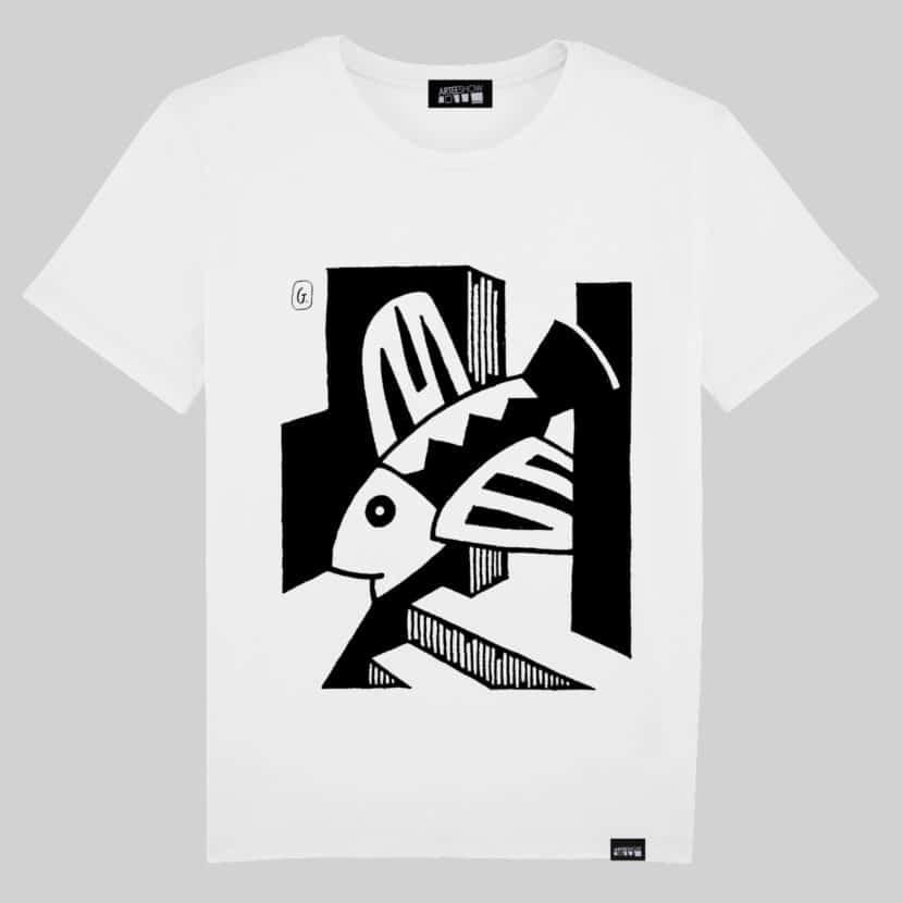T-shirt en coton biologique de l'artiste belge Josse Goffin