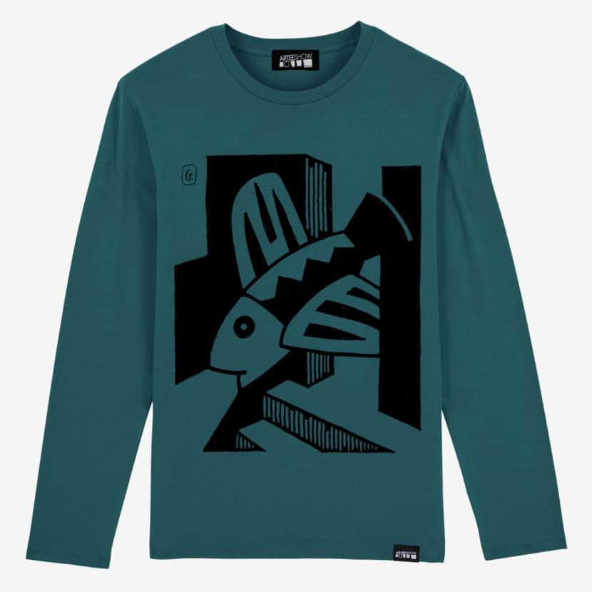 t-shirt unisexe à manches longues josse goffin