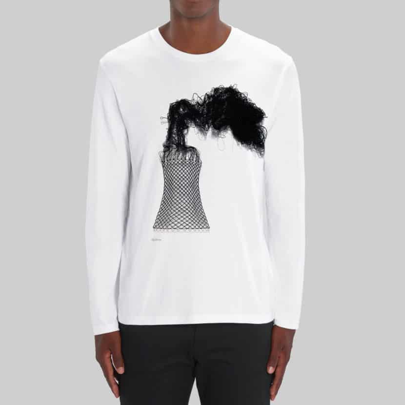 t-shirt unisexe à longues manches elodie antoine imprimé en belgique