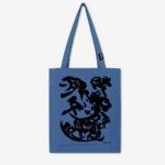 sac bleu en coton biologique de l'artiste belge Christian Dotremont