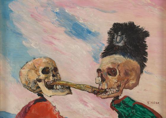 james ensor deux squelettes