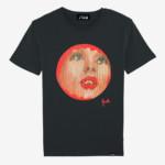 t-shirt evelyne axell portrait fragmenté